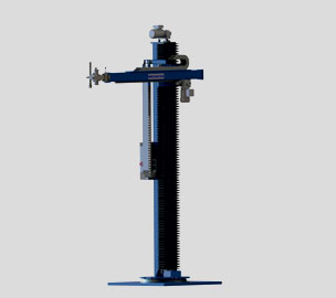 Stationary tripod with rotating column
